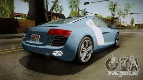 Audi R8 Coupe 4.2 FSI quattro EU-Spec 2008 YCH für GTA San Andreas linke Ansicht