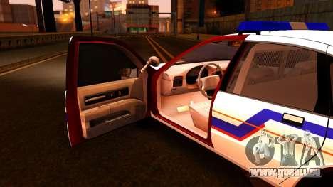 Chevy Caprice Hometown Police 1996 für GTA San Andreas Innenansicht
