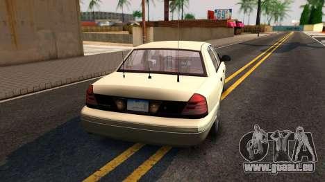 Ford Crown Victoria Unmarked 2009 pour GTA San Andreas laissé vue