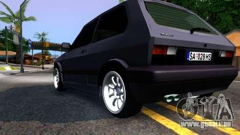Yugo Koral 45 Sport Tuning für GTA San Andreas rechten Ansicht