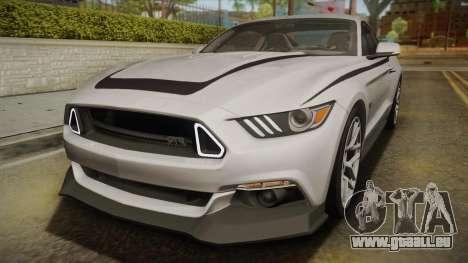 Ford Mustang RTR Spec 2 2015 pour GTA San Andreas vue de dessus