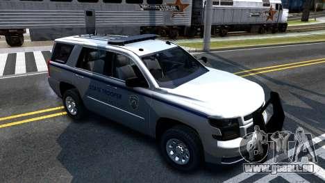2015 Chevy Tahoe San Andreas State Trooper pour GTA San Andreas laissé vue