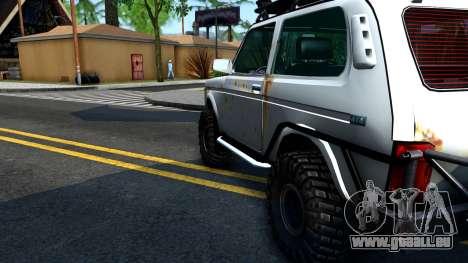 Lada Niva 4x4 Off Road für GTA San Andreas Innenansicht