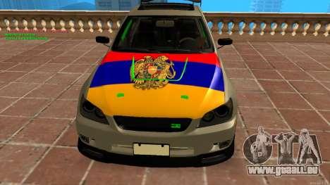 Toyota Altezza Armenian für GTA San Andreas zurück linke Ansicht