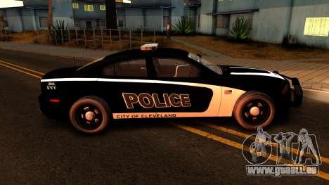 2014 Dodge Charger Cleveland TN Police pour GTA San Andreas vue arrière