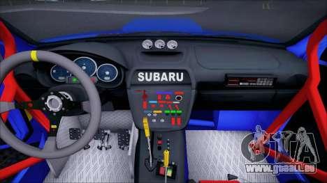 Subaru Impreza WRX STI WRC Rally 2005 für GTA San Andreas Innenansicht