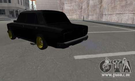 VAZ 2107 Black Jack für GTA San Andreas linke Ansicht