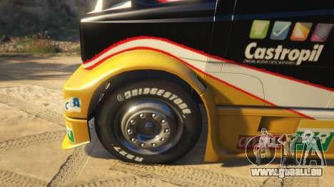 GTA 5 Ftruck Mercedes L Series v2 droite vue latérale