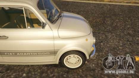 GTA 5 Fiat Abarth 595ss Street ver arrière droit vue de côté
