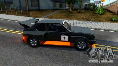 Rally Club pour GTA San Andreas sur la vue arrière gauche