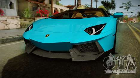 Lamborghini Aventador Itasha Rias Gremory für GTA San Andreas Seitenansicht