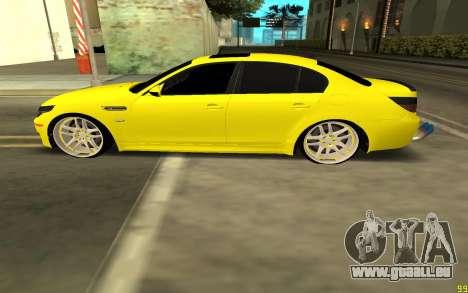BMW 5 Series E60 pour GTA San Andreas laissé vue