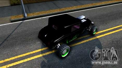 Green Flame Hotknife Race Car für GTA San Andreas Rückansicht