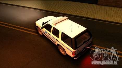 2004 Chevy Tahoe State Wildlife pour GTA San Andreas vue de droite