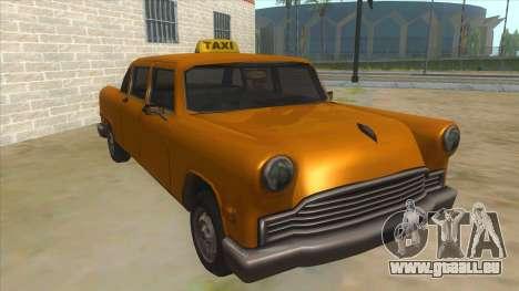 VC Cabbie Xbox pour GTA San Andreas vue arrière