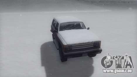 Rancher Winter IVF pour GTA San Andreas sur la vue arrière gauche