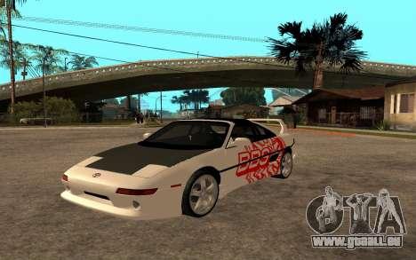 Toyota MR2 GT für GTA San Andreas zurück linke Ansicht
