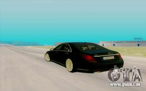 Mercedes Benz S63 für GTA San Andreas zurück linke Ansicht
