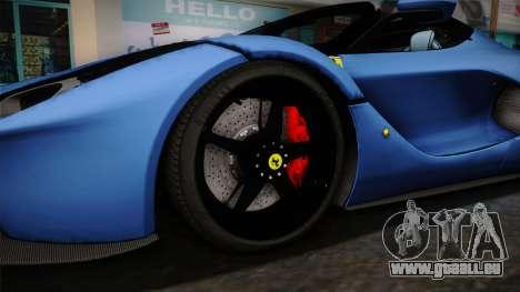 Ferrari LaFerrari Aperta 2017 pour GTA San Andreas vue arrière