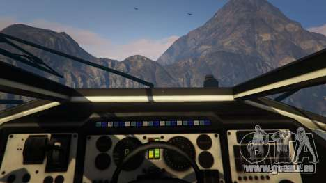GTA 5 Punisher Black Armed Version droite vue latérale