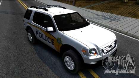 Ford Explorer Metro Police 2009 pour GTA San Andreas vue de droite