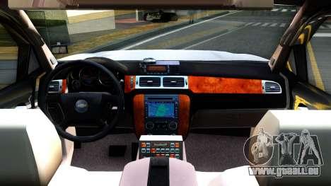 2007 Chevy Avalanche - Pilot Car für GTA San Andreas Innenansicht