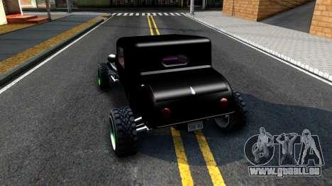 Green Flame Hotknife Race Car für GTA San Andreas zurück linke Ansicht