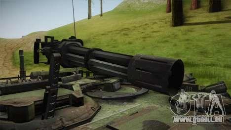 Abrams Tank Woolant Camo pour GTA San Andreas vue arrière