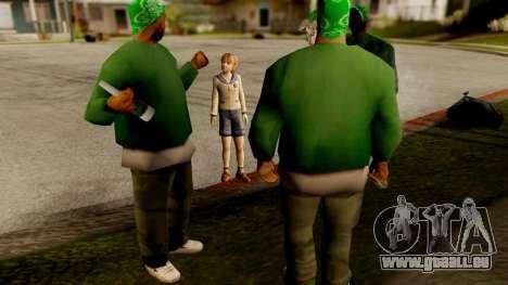Resident Evil ORC - Sherry Birkin (YoungKid) für GTA San Andreas dritten Screenshot