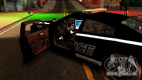 2014 Dodge Charger Cleveland TN Police pour GTA San Andreas vue intérieure