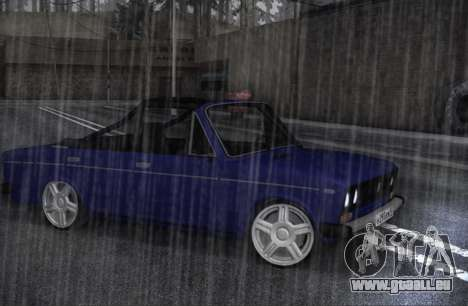 VAZ 2106 KBR pour GTA San Andreas laissé vue