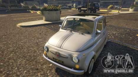 GTA 5 Fiat Abarth 595ss Street ver Rückansicht