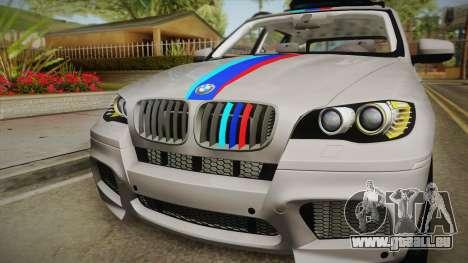 BMW X5M 2012 Special pour GTA San Andreas vue de droite