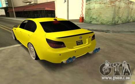 BMW 5 Series E60 pour GTA San Andreas sur la vue arrière gauche