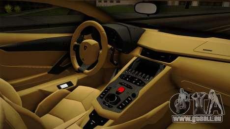 Lamborghini Aventador Itasha Rias Gremory pour GTA San Andreas vue intérieure