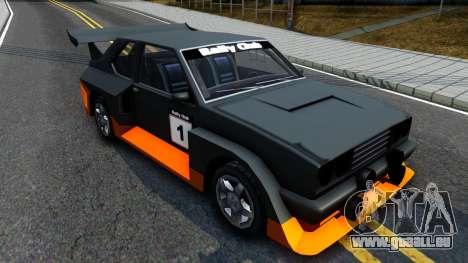 Rally Club pour GTA San Andreas laissé vue