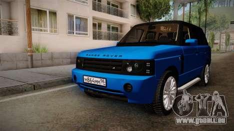 Range Rover 2008 für GTA San Andreas rechten Ansicht