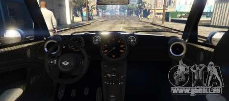 GTA 5 Mini Countryman arrière vue latérale gauche