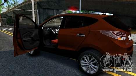 Hyundai ix35 Aze pour GTA San Andreas vue de droite