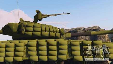 GTA 5 Tank T-72 droite vue latérale