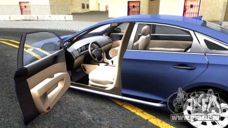 Hyundai Sonata 2016 pour GTA San Andreas vue intérieure