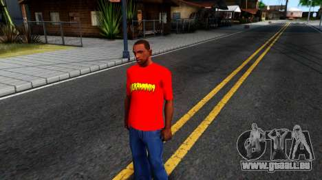 Hulk Hogan T-Shirt pour GTA San Andreas