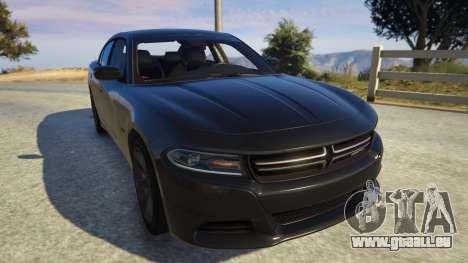GTA 5 Dodge Charger 2016 Rückansicht