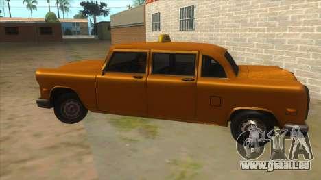 VC Cabbie Xbox pour GTA San Andreas laissé vue