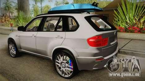 BMW X5M 2012 Special pour GTA San Andreas laissé vue