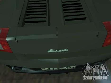 Lamborghini Galardo Spider pour GTA San Andreas vue arrière