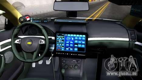 Chevy Caprice Metro Police 2013 für GTA San Andreas Innenansicht