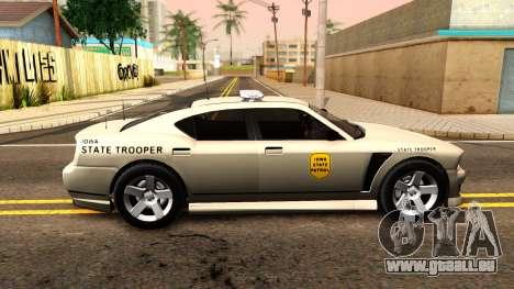 Bravado Buffalo 2012 Iowa State Patrol pour GTA San Andreas laissé vue