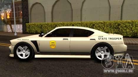 Bravado Buffalo Slicktop 2012 Iowa State Patrol pour GTA San Andreas laissé vue