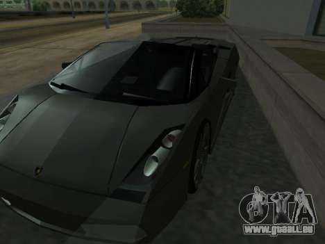 Lamborghini Galardo Spider pour GTA San Andreas vue de dessous